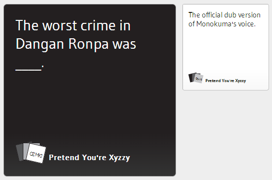 Cards Against Humanity Danganronpa Edition Danganronpa Know Your Meme