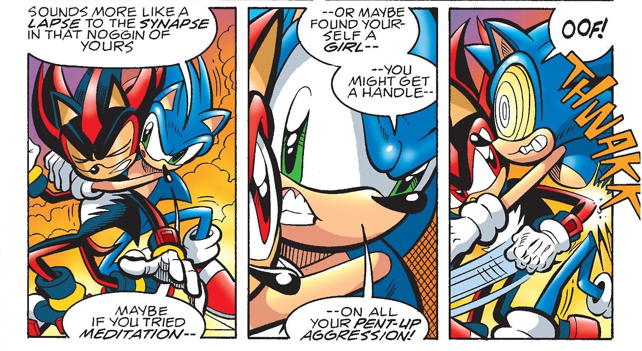 Shadow Needs A Girlfriend Archie Sonic Comics Know Your Meme
