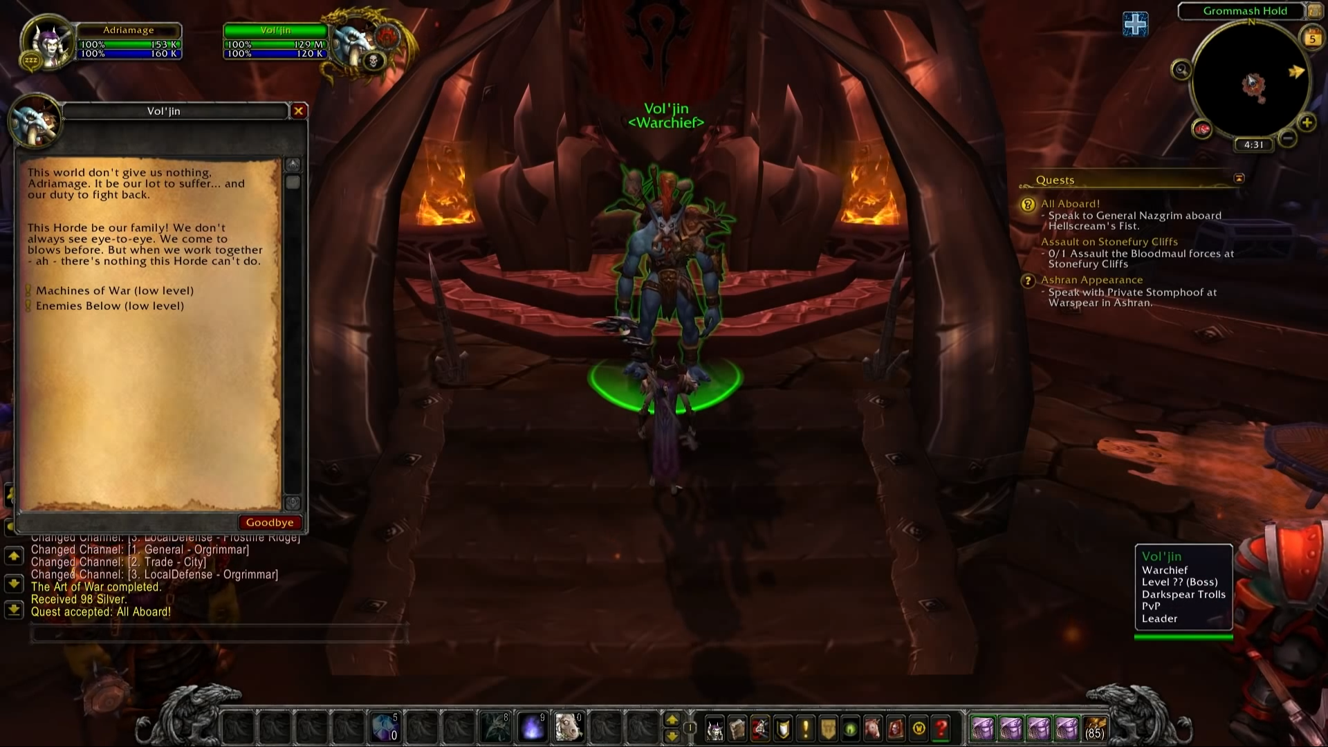 Warchief Voljin Warlords Of Draenor Beta World Of Warcraft