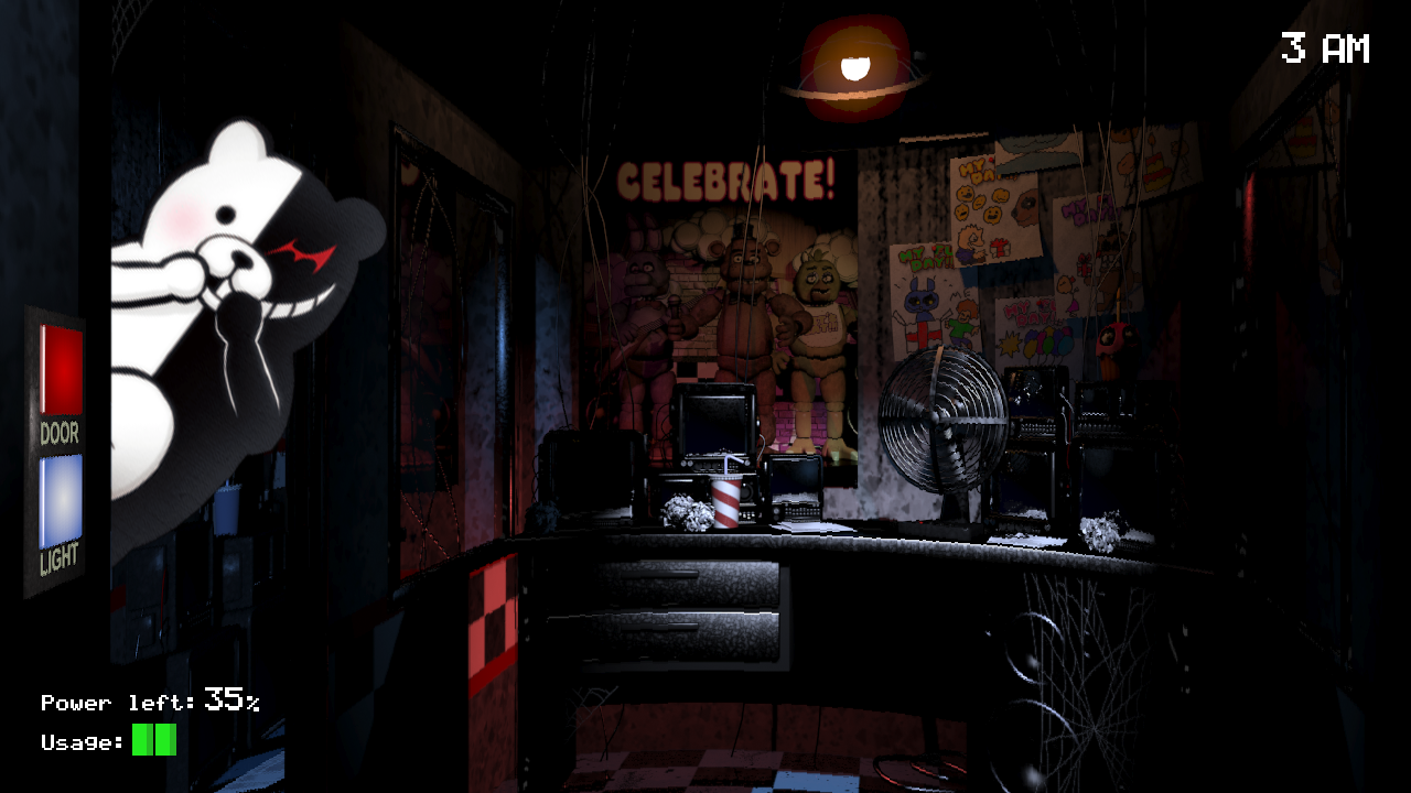 DOOR Power left35% Usage- & Five Nights at Hope\u0027s Peak Academy | Five Nights at Freddy\u0027s | Know ...