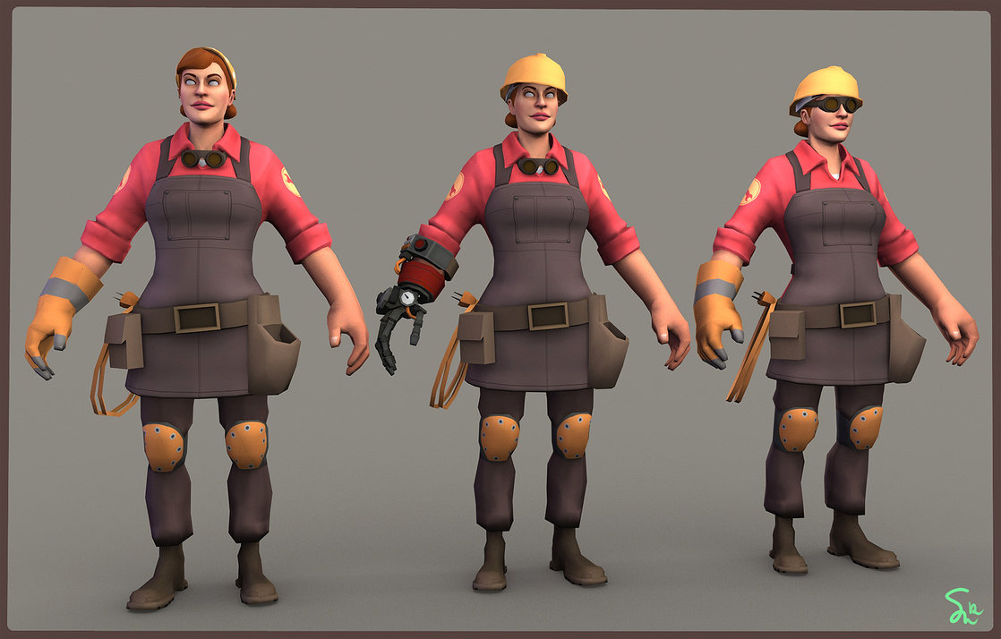 Female Engineer Team Fortress 2 Know Your Meme