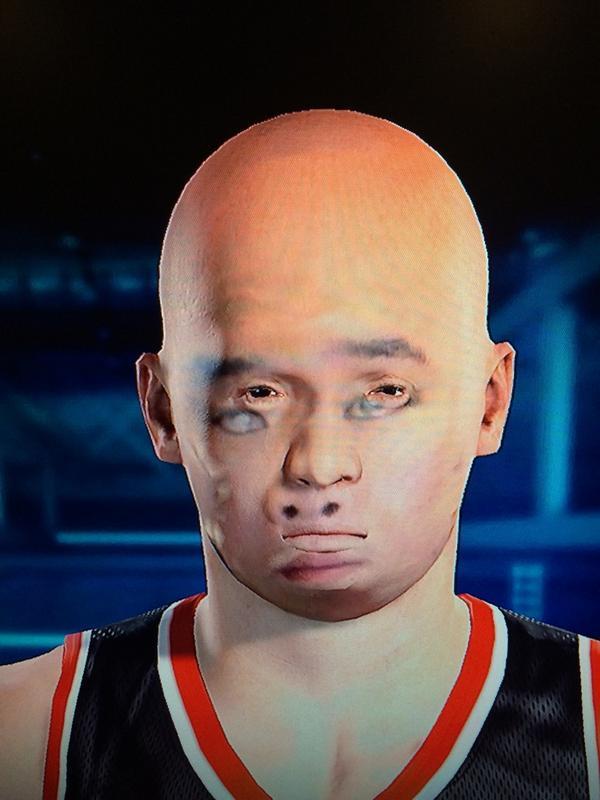 NBA 2K15 WWE Live 15 PlayStation 4 Kinect Face Man Forehead Chin Eyebrow Head