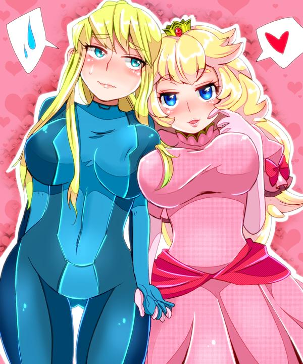 peach and suit princess samus Zero zelda