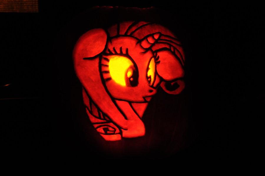 Rarity Princess Luna Jack O Lantern Pony Red Orange Pumpkin