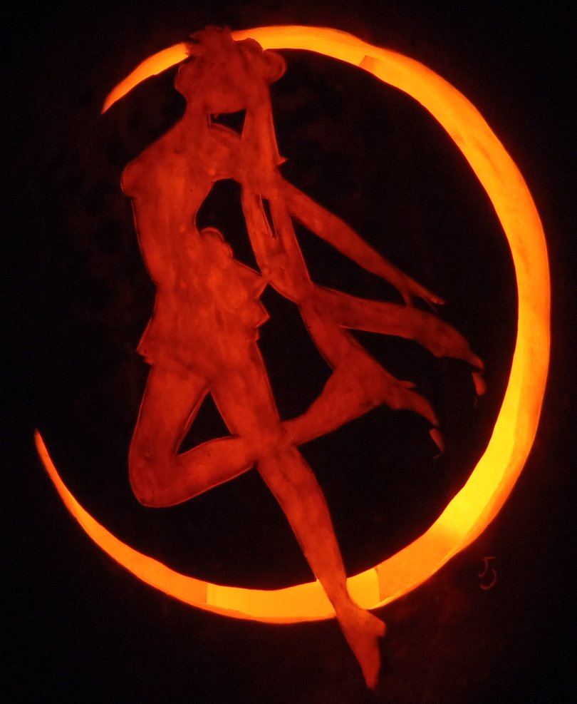 sailor moon pumpkin pumpkin carving art know your meme