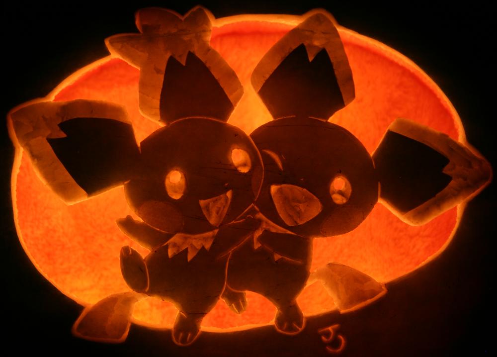 double pichu watermelon invasion pumpkin carving art know your meme