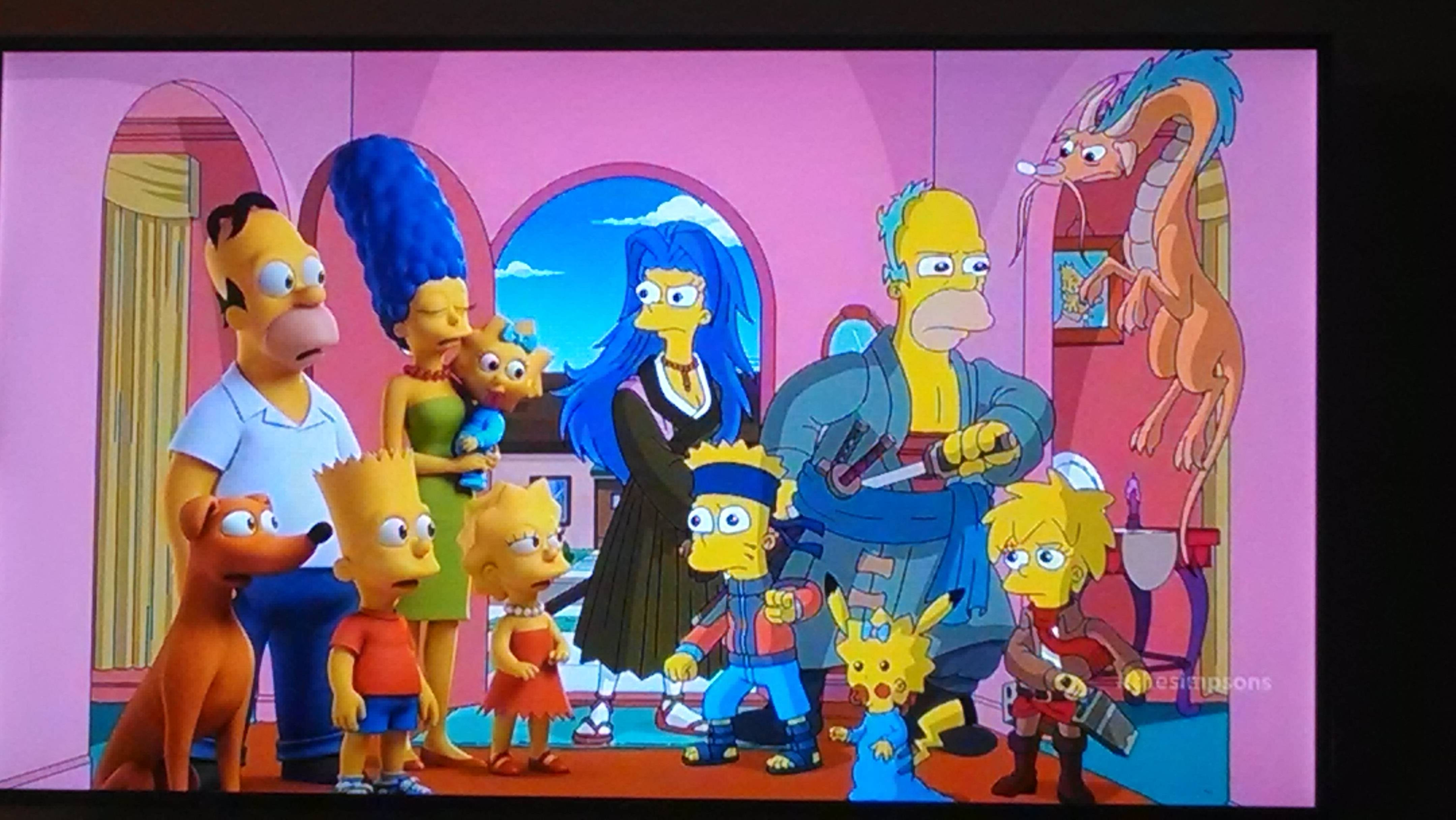 treehouse of horror xxv the simpsons as anime characters the