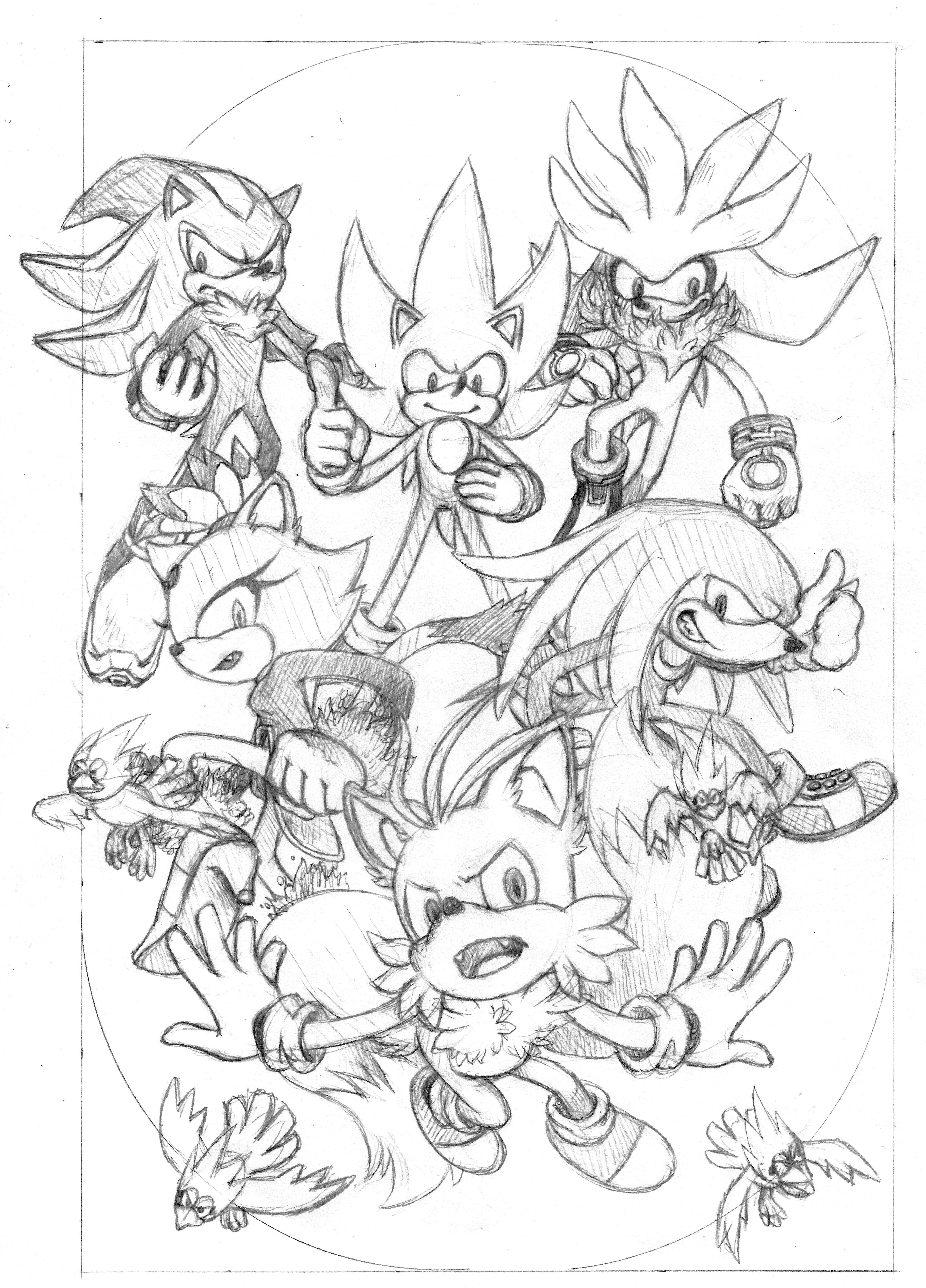 Super Sonic Super Tails Super Knuckles Super Shadow Super Silver