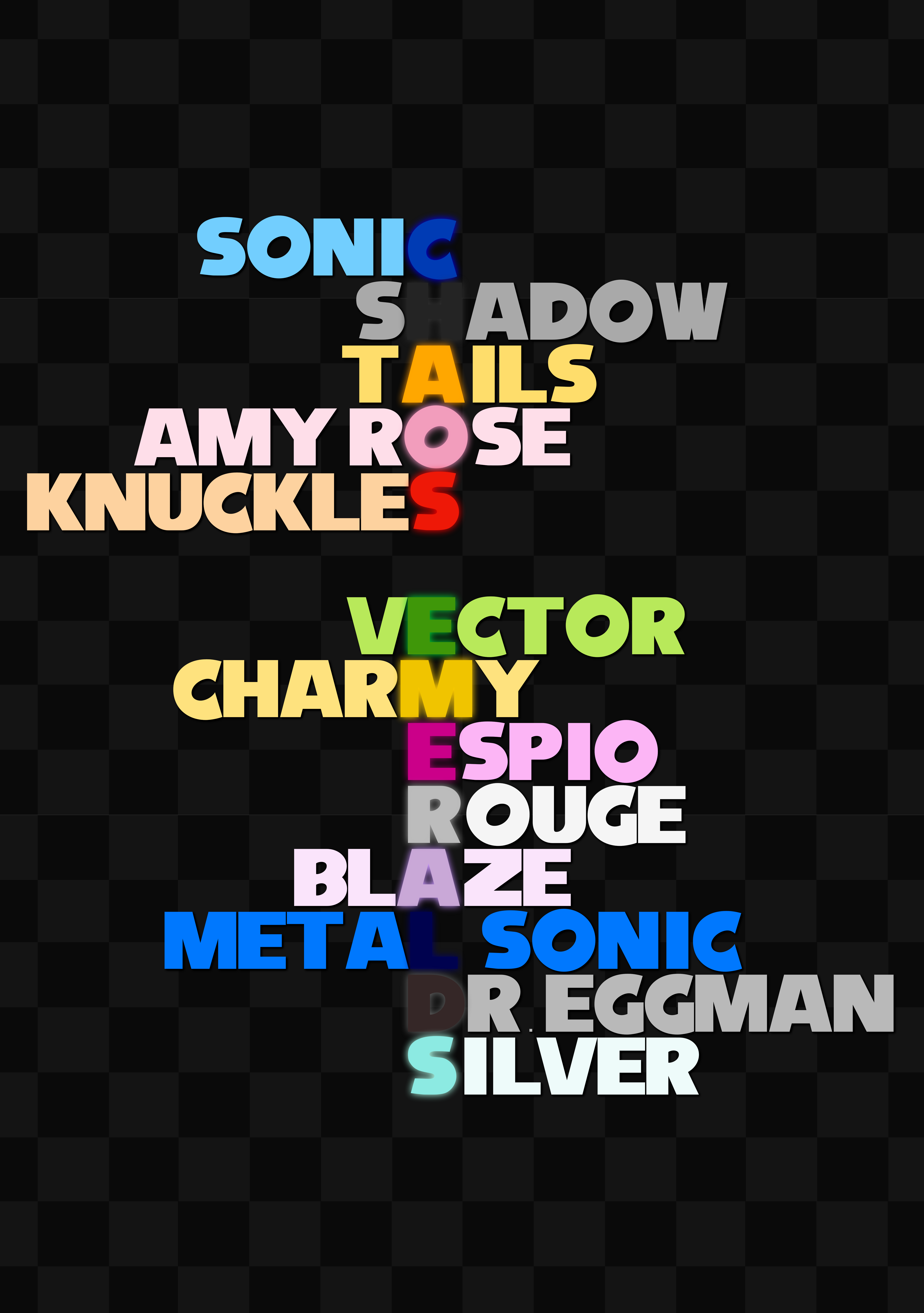 All Names Can Spell Chaos Emeralds Sonic The Hedgehog Know