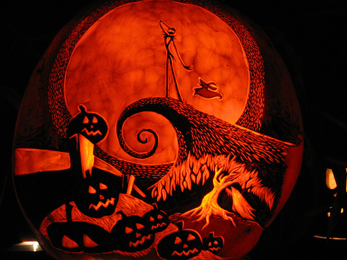 the nightmare before christmas the pumpkin king jack skellington pumpkin halloween orange jack o lantern - Nightmare Before Christmas Jack O Lantern