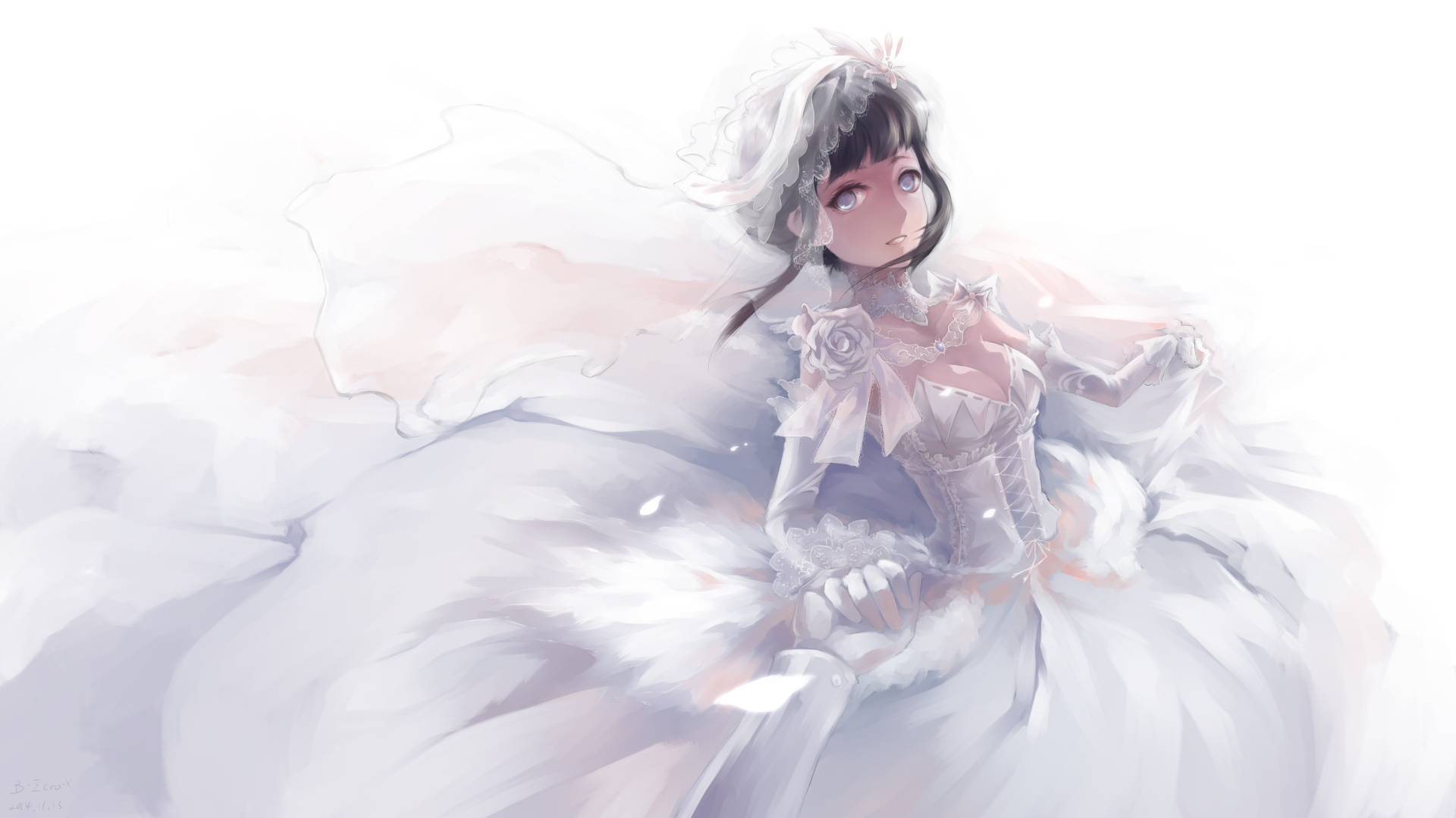Naruto Hinata Wedding.Hinata Hyuga Alternate Wedding Dress Naruto Know Your Meme