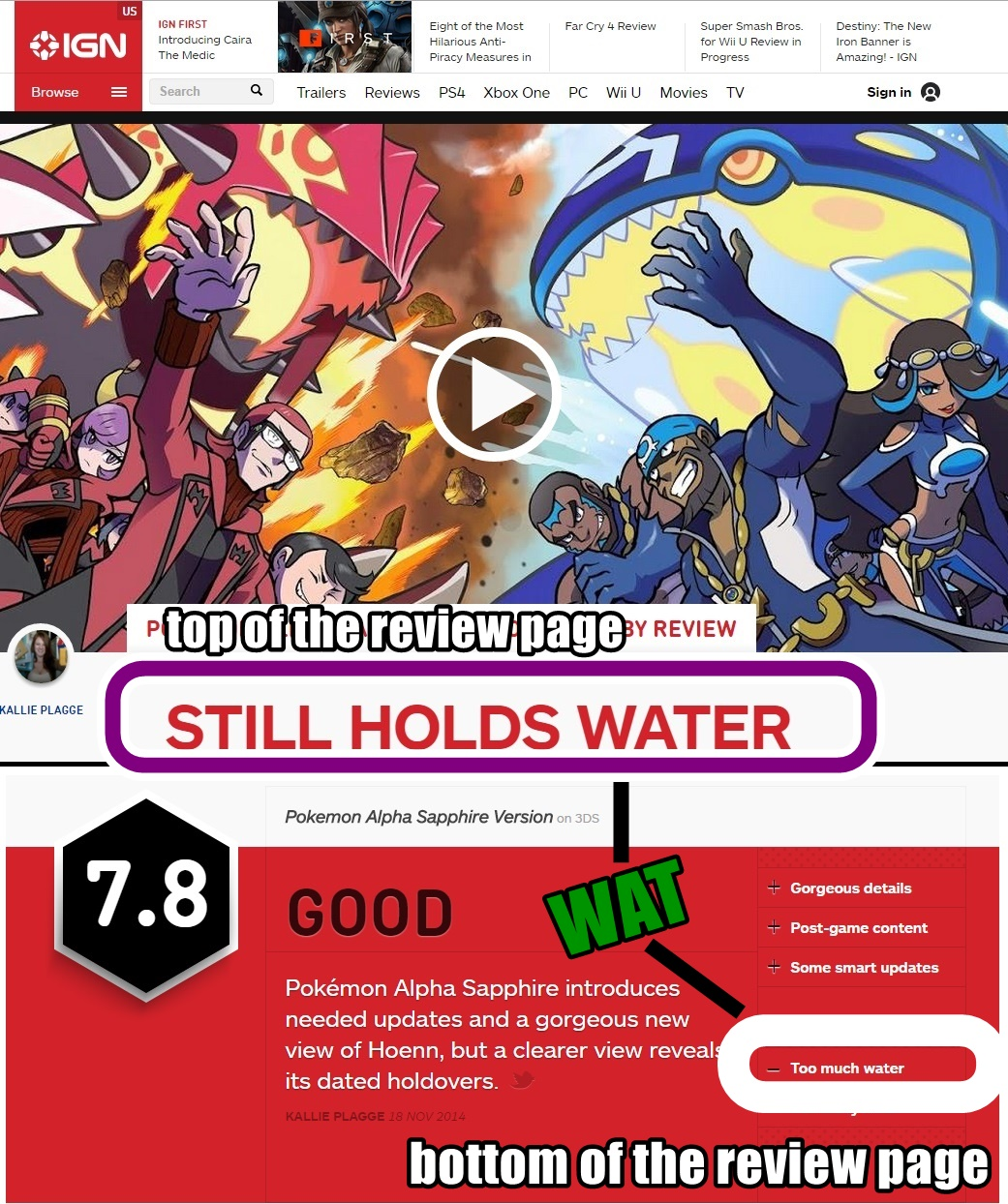 i have no words ign too much water know your meme