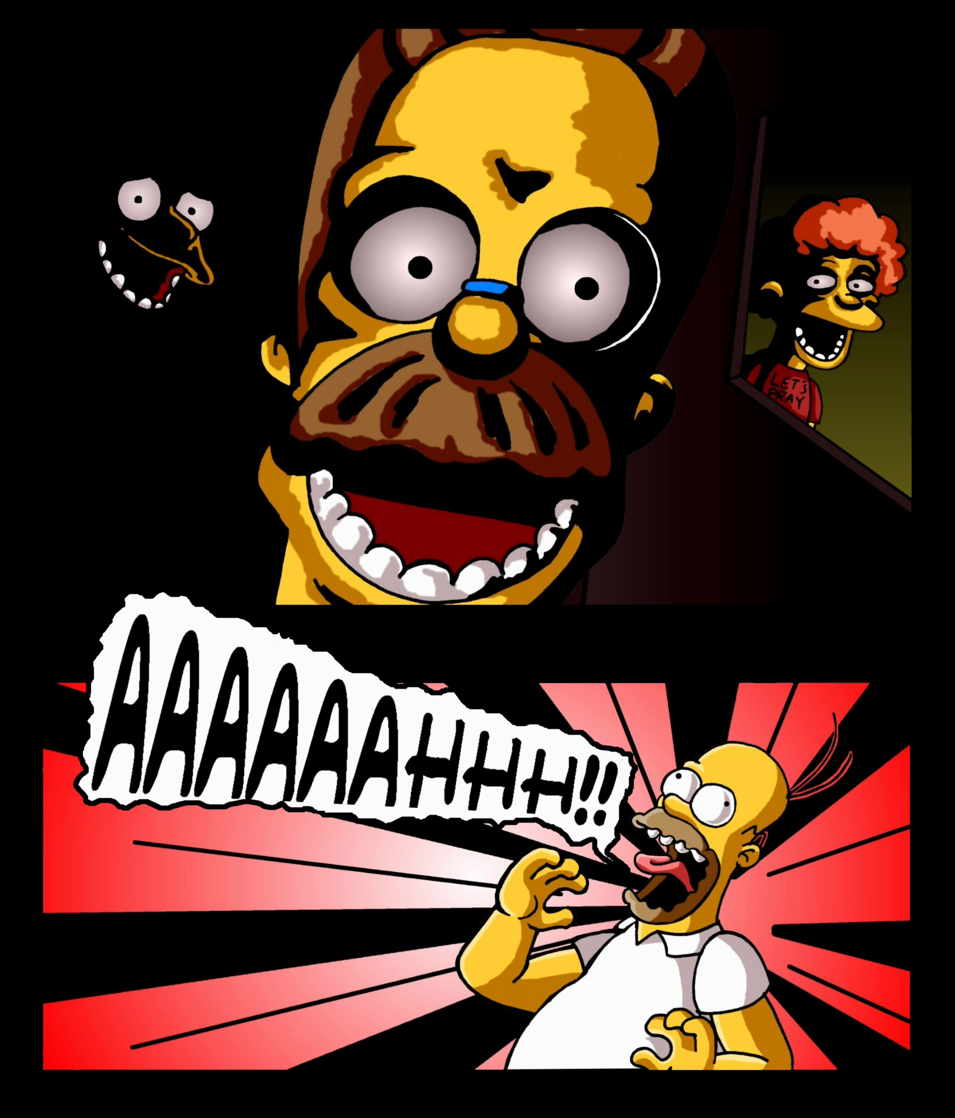 Scary Five Nights At Freddy's Memes Stupid Scary Flanders Five Nights At Freddy S Know Your Meme stupid scary flanders five nights at