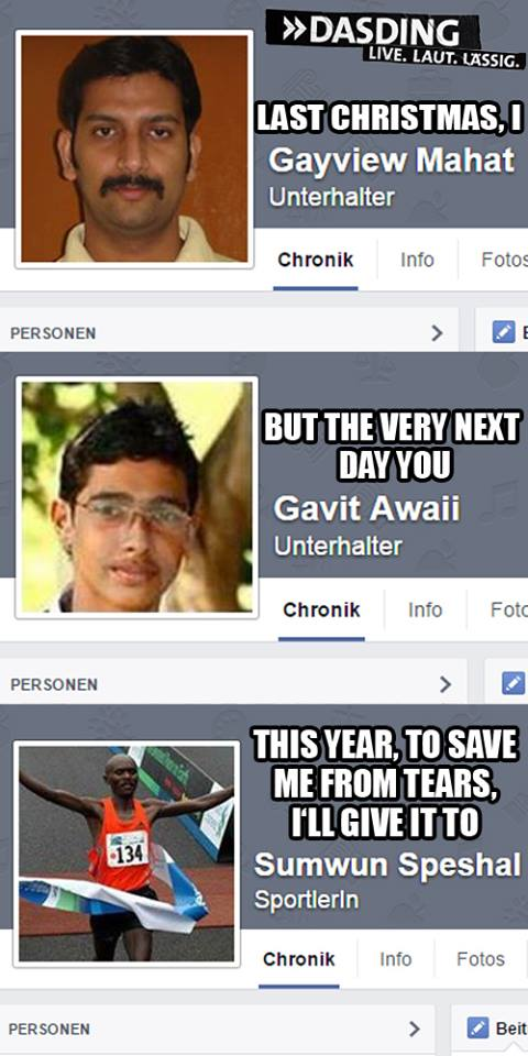 Last Christmas I Gayview Mahat.Last Christmas With Facebook Names Facebook Names Know