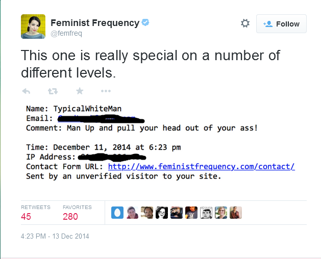 Anita Sarkesian posts someone's I P  address  | GamerGate | Know