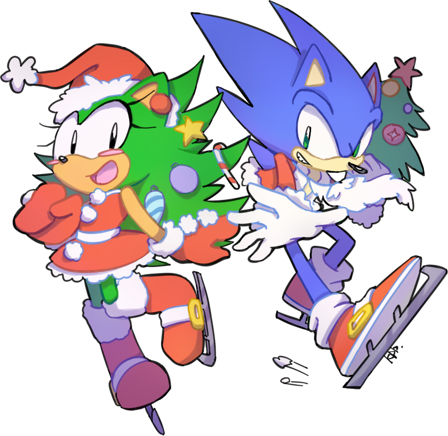 Sonic Christmas.Christmas Tree The Hedgehog And Sonic Sonic Original
