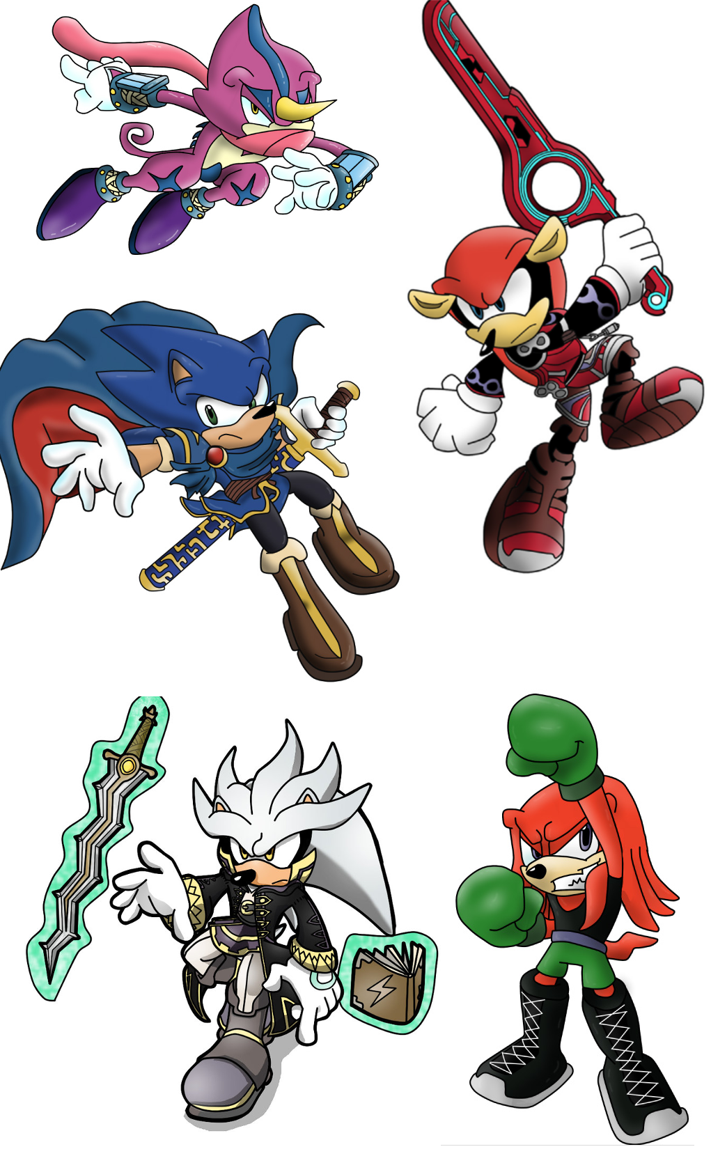 sonic characters as smash bros characters super smash brothers