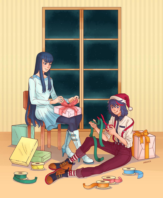 Merry Christmas a From Ryuko and Satsuki. | Kill la Kill | Know Your ...