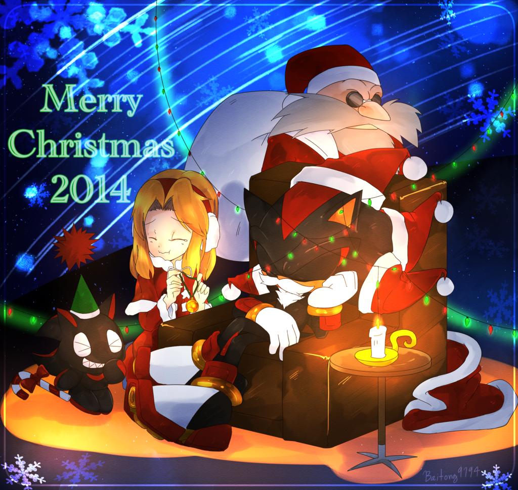 christm 2014 christmas art fictional character christmas decoration - Sonic Hours Christmas Day