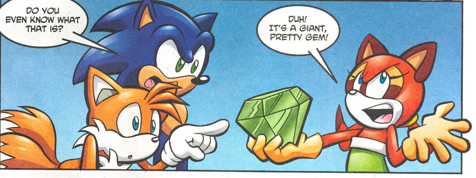 Marine With A Chaos Emerald Archie Sonic Comics Know Your Meme
