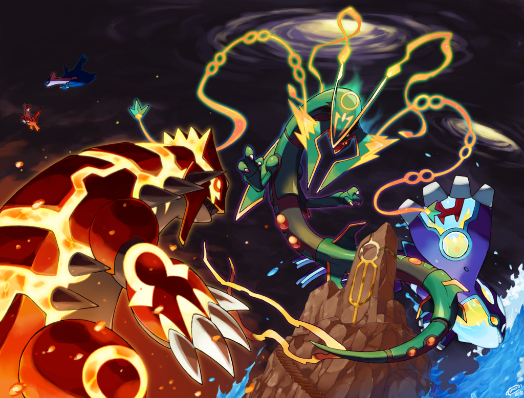 Pokemon Omega Ruby And Alpha Sapphire Battle Revolution X Y Groudon Art