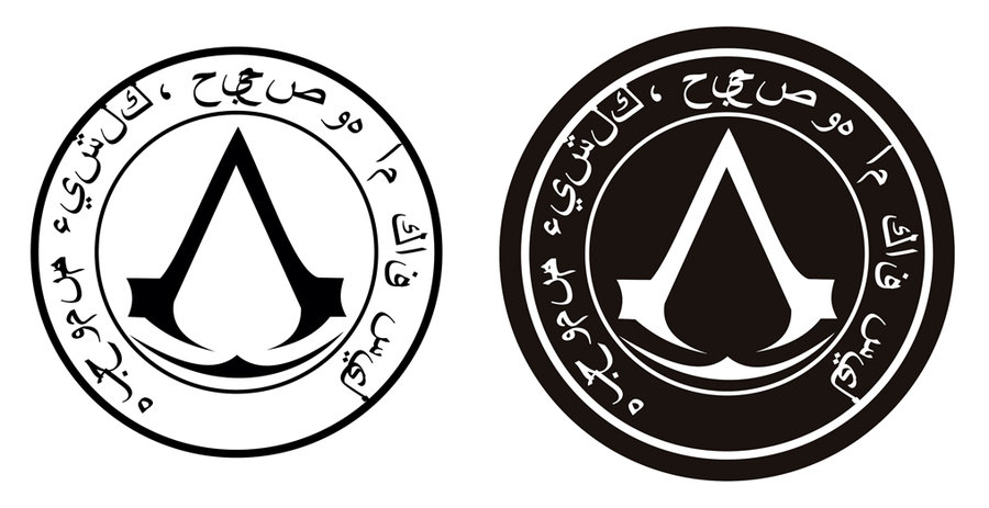 Assassin S Creed Seal Arabic Assassin S Creed Logo Know Your Meme