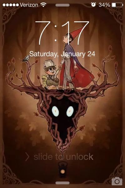 verizon 3490 saturday january 24 slide to unlock - Over The Garden Wall Poster