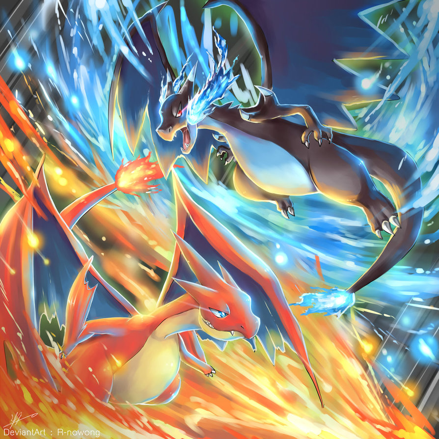 DeviantArt R Nowong Pokemon X And Y Red Blue Pikachu Art Anime