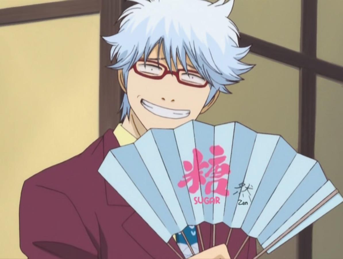 UGAR Gintoki Sakata Anime Human Hair Color Vision Care Mangaka Cool