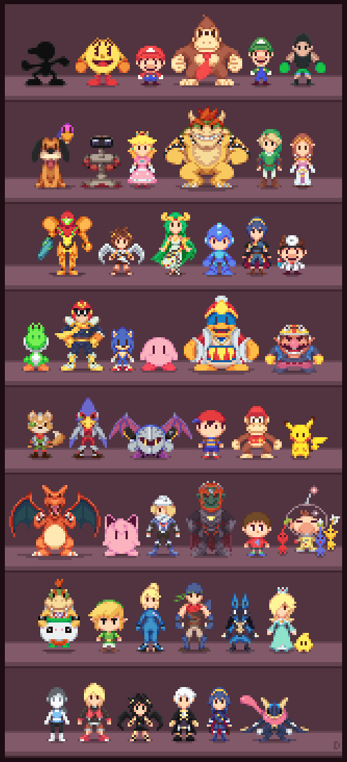 super low res bros super smash brothers know your meme