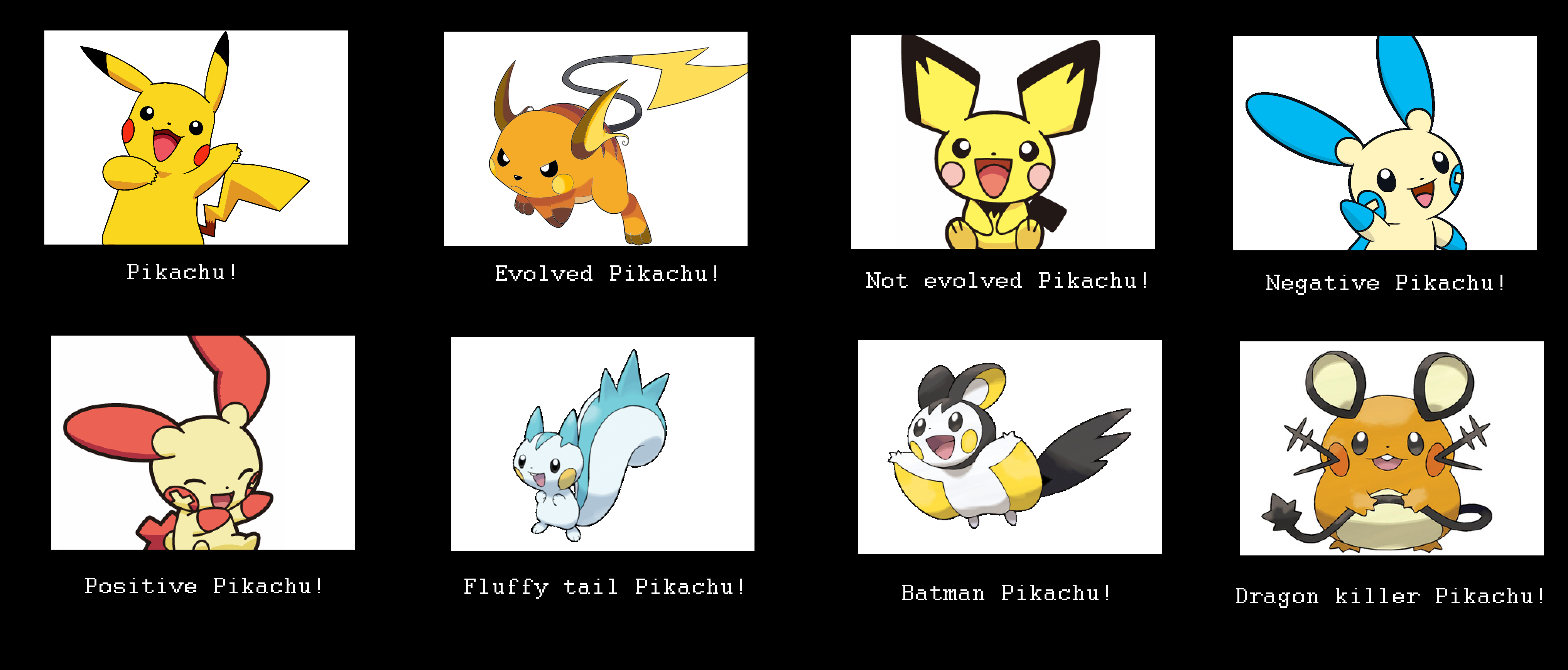 All Of The Pikachus Pokémon Know Your Meme