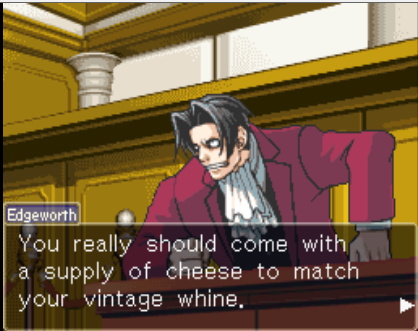 Edgeworth Sets It Straight Phoenix Wright Ace Attorney Know