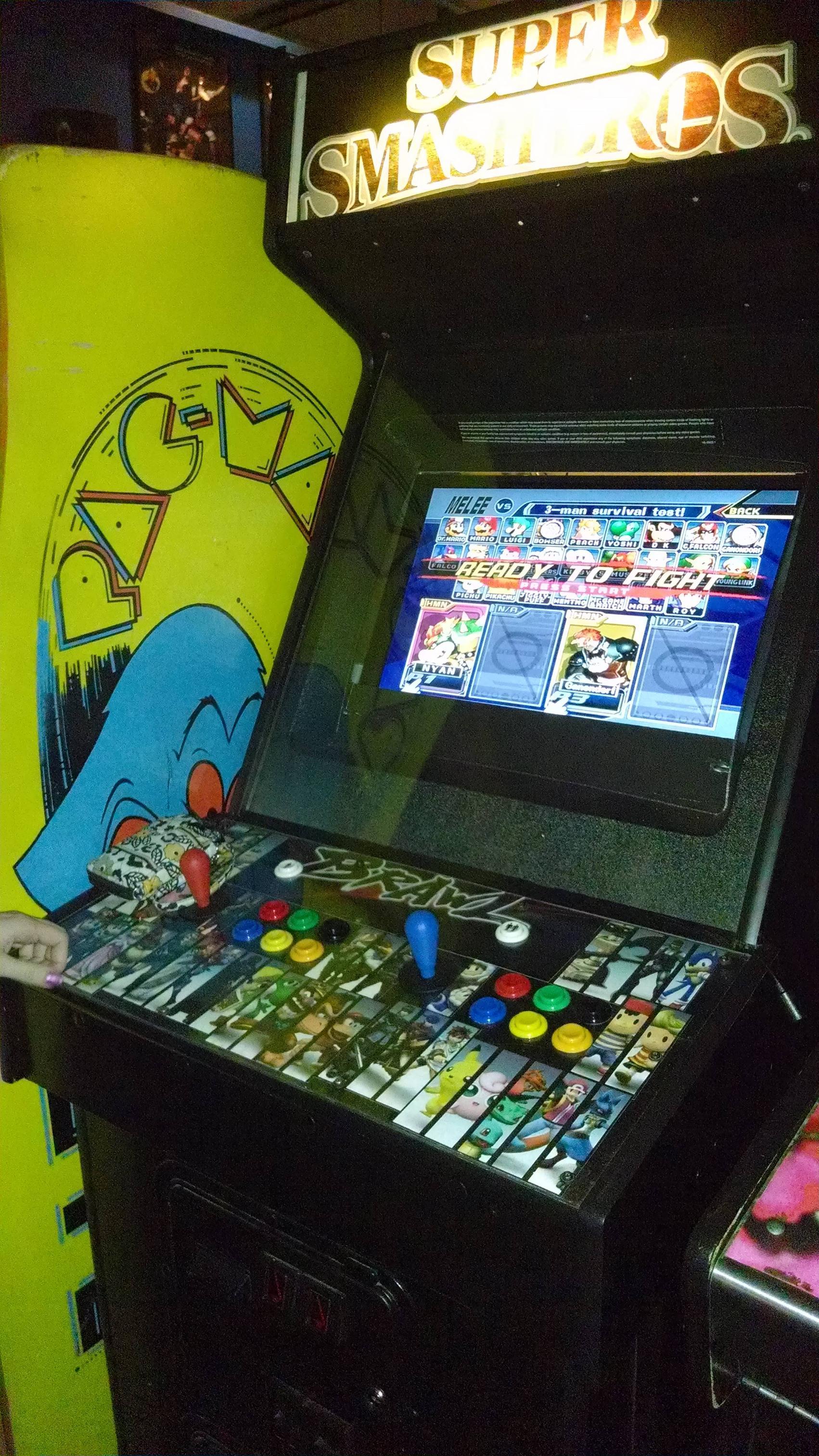 super smash brothers melee arcade cabinet super smash brothers