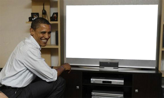 Exploitable Barack Obama Watching Tv Know Your Meme