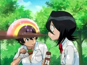 Rukia Spit Take Bleach Know Your Meme