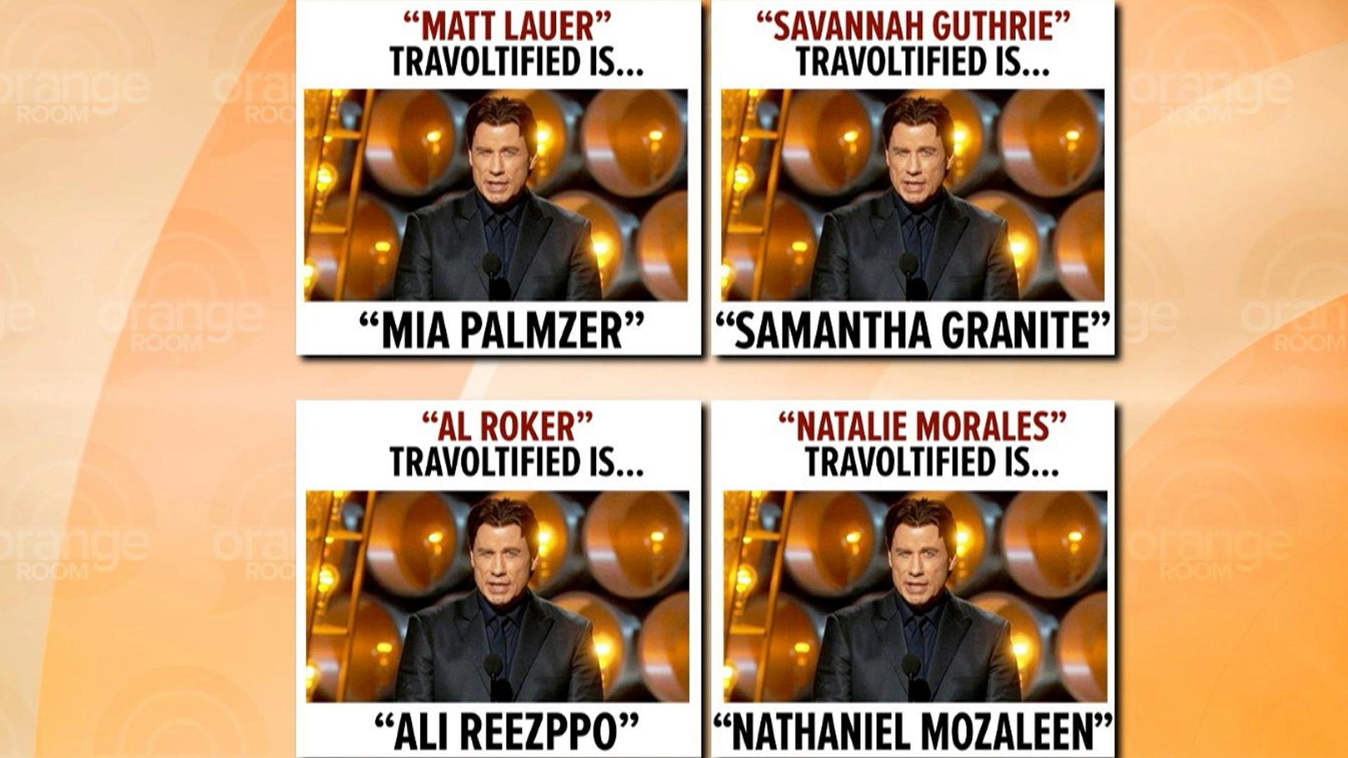 John Travolta Adele Dazeem Meme