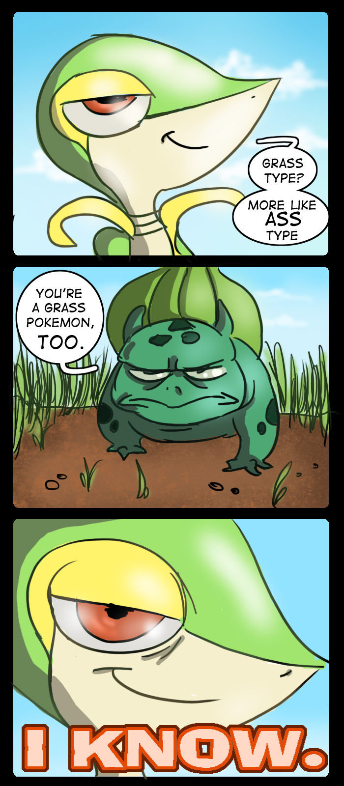 Grass Type More Like Ass Type Pokémon Know Your Meme