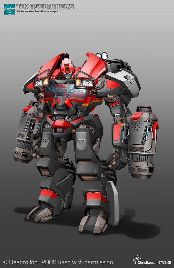 Transformers Prime Ironhide Concept Art by Ken Christiansen