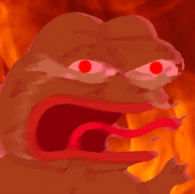 Angry Pepe Oil Painting Angry Pepe Know Your Meme