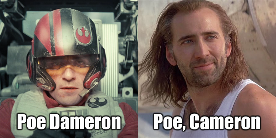 Poe Poe Name Puns Star Wars Know Your Meme