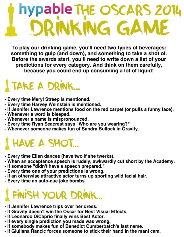 Drinking games at home