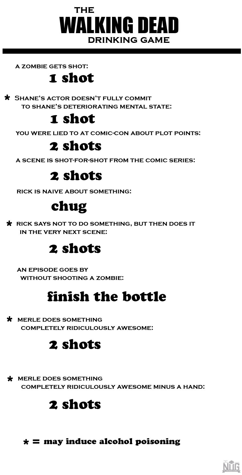 The Walking Death Drinking Game II | TV Drinking Games