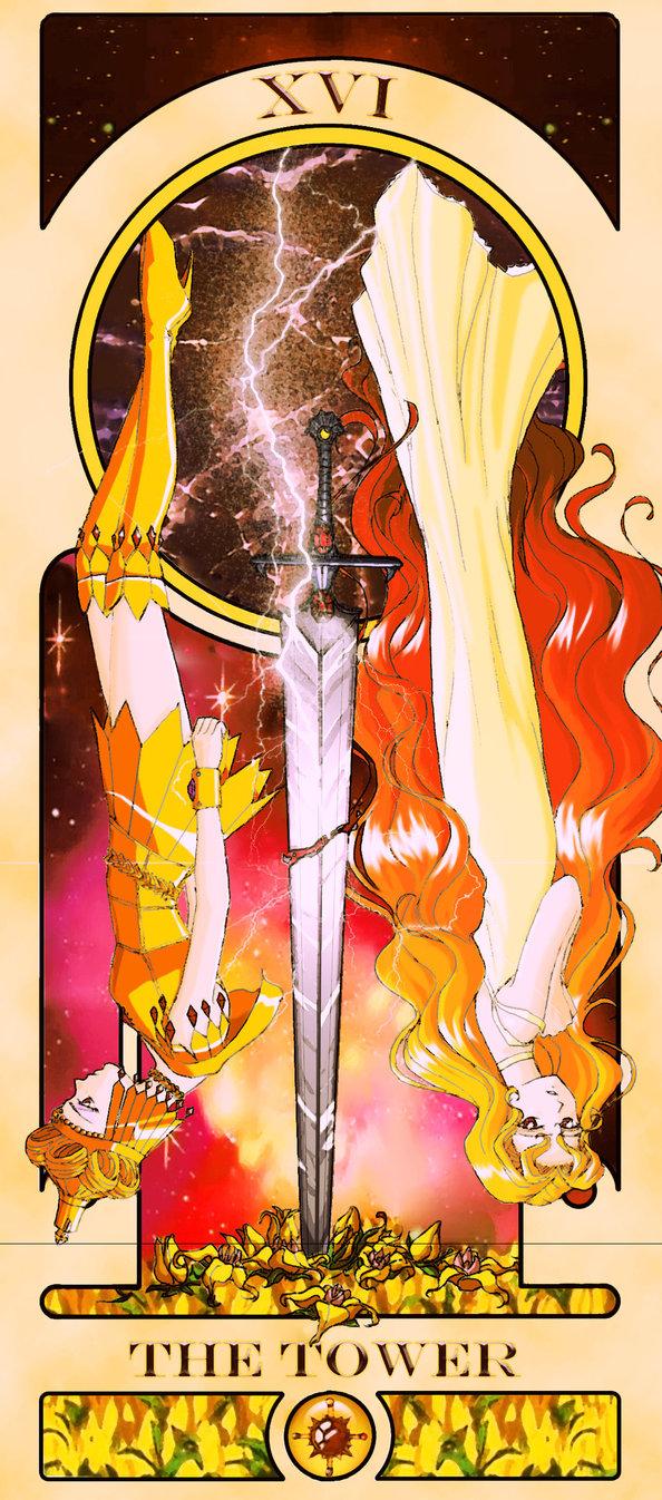 Sailor Moon Tarot: The Tower by Sillabub429 | Tarot Arcana Parodies