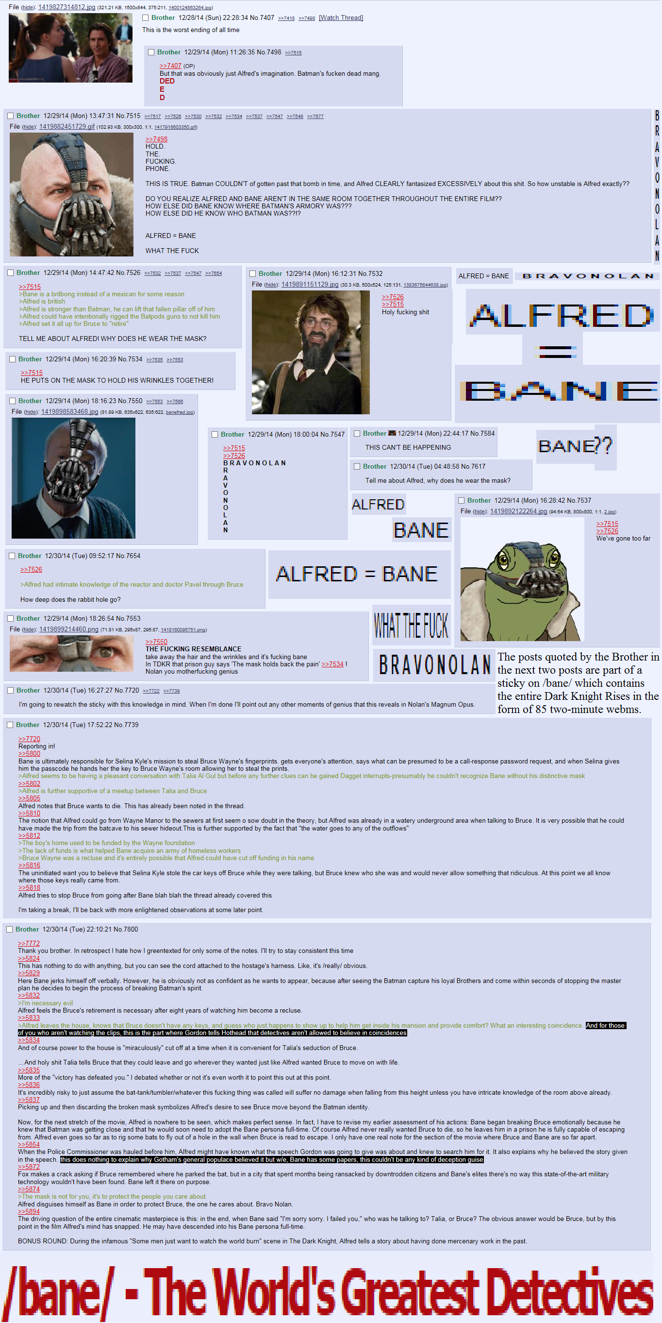 4Chan Torrent bane = alfred | baneposting | know your meme