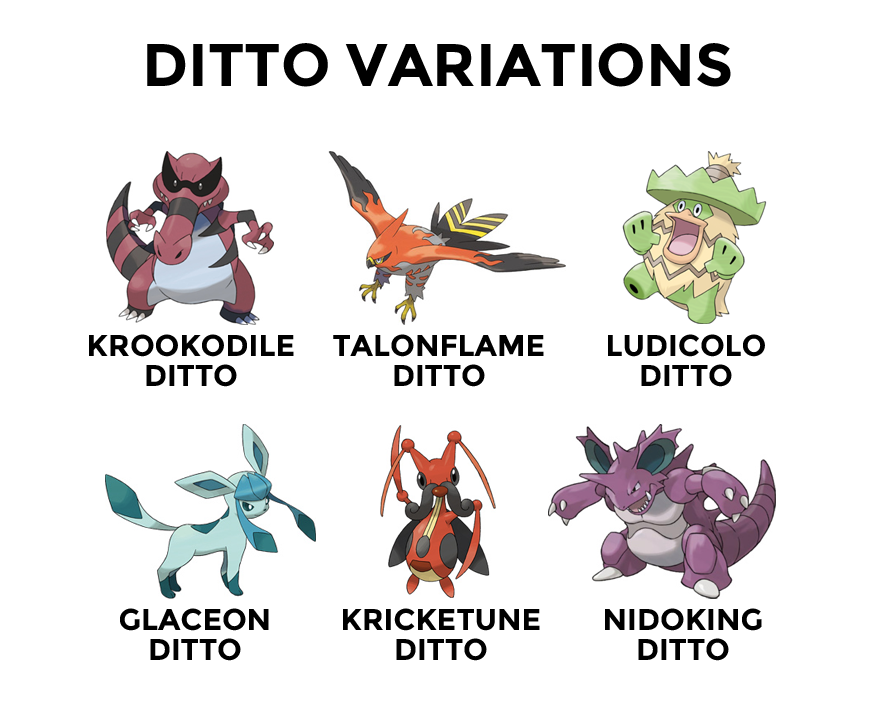 Ditto Variations Pokemon Variants Know Your Meme