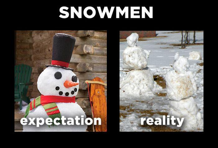 Snowmen Expectation Vs Reality Know Your Meme
