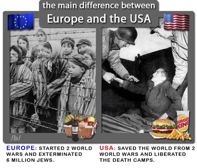 1805448a6f0 the main difference between Europe and the USA EUROPE  STARTED 2 WORLD WARS  AND EXTERMINATED