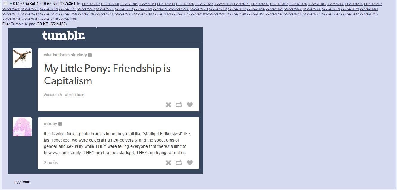 my little pony friendship is capitalism my little pony