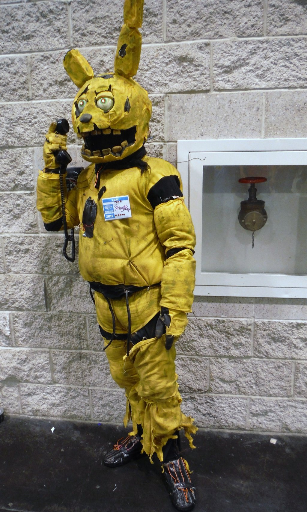 five nights at freddys 3 five nights at freddys sister location costume yellow personal protective