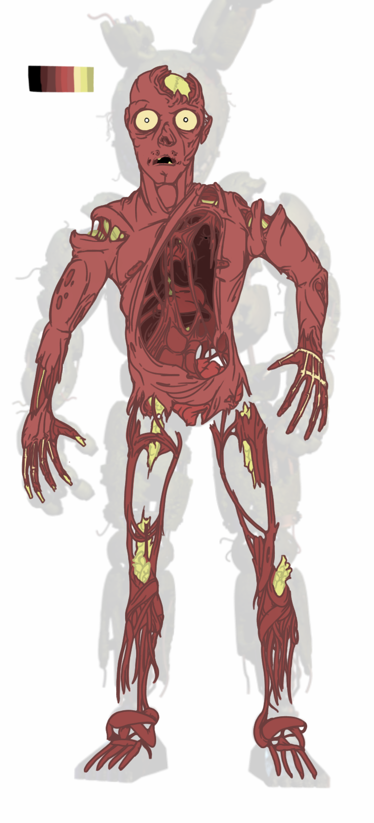 How the body woud look. | Five Nights at Freddy\'s | Know Your Meme